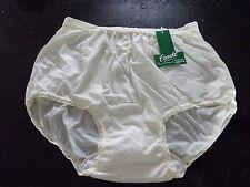 3 pairs Yellow Nylon brief Panties lace waist & legs 6  - made in USA