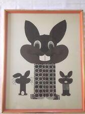 Vintage Windsor Art Products Rabbit Bunny Art Print Steampunk Retro Design 22x18