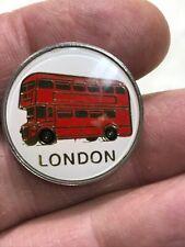 LONDON DOUBLE DECKER BUS LAPEL PIN