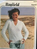 "hayfield Knitting Pattern Ladies DK  V Neck sweater Jumper Size 32/38"""