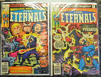 THE ETERNALS (2-Book) Comic LOT with #13, 19 (1977-1978 | Marvel) 1st Gilgamesh