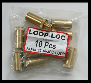 Loop-Loc Swimming Pool Safety Cover Brass Anchor 10 pcs