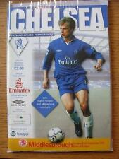 23/09/2001 Chelsea v Middlesbrough  (Good Condition)