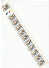 Stamps AAT Antarctic Husky dog 85c value in colour error strip of 11, scarce