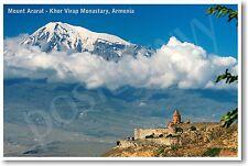 Mount Ararat - Khor Virap Monastary Armenia - NEW World Travel POSTER