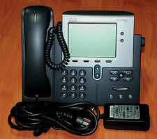 Cisco CP-7942G VOIP Phone SIP or SCCP loaded +  CP-PWR-CUBE 3 6Mth Warranty