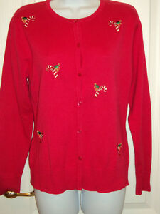 C.B. collections Petite L Christmas sweater red