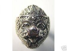 LOOK 0679 New HANUMAN Sterling Silver 925 Hindu Ring Jewelry Buddha Monkey OM