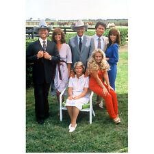 Dallas cast together at farm 8 x 10 Inch Photo