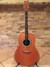 1987 Ovation 1717 Legend Acoustic Electric Guitar Made in USA with hard case