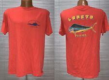 Vtg 80's Loreto Mexico Deep Sea Fishing Diving Ocean Single Stitch T shirt Xl L