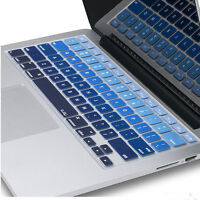 """Silicone Keyboard Cover Skin for MacBook Air Pro Retina Mac 13 15 17"""" Ombre Blue"""