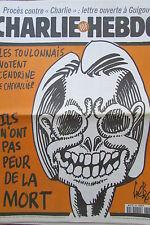 CHARLIE HEBDO No 306 AVRIL 1998 GEBE TOULON VOTE CHEVALLIER  PAS PEUR DE LA MORT