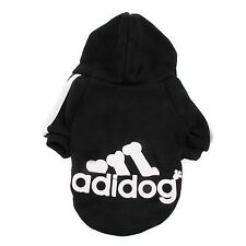 Casual Winter Adidog Pets Dog Clothes Warm Hoodie Coat Jacket Clothing