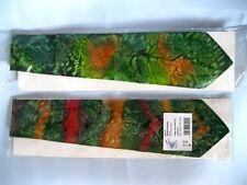 2x wunderschöne Seidenkrawatte Handbemalt Batik Seidenmalerei Crepe de Chine 12