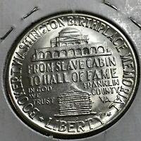 1946-D  BOOKER T WASHINGTON SILVER HALF DOLLAR COMMEMORATIVE  UNCIRCULATED