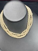 "Vintage 1950S Woven Three Strand Small Necklace 12-14"" Flower Girl Wedding"