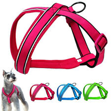 Breathable Mesh Padded Pet Dog Harness Adjustable Reflective Small Medium Large