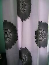 Curtains White and Black Handmade new Size 43ins x  78ins