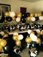 "10"" Latex Party Balloons Gold White Black Gold Curling Ribbon Roll Party Deco UK"