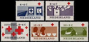✔️ NETHERLANDS 1963 - RED CROSS - NVPH 795/799 ** MNH OG [NL795]