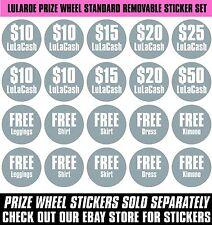 "Prize Wheel 18"" Tabletop Portable LuLaRoe Standard Removable Sticker Set"