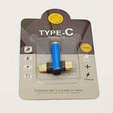 Duo head USB-C naar 3,5mm Jack audio adapter - Blauw