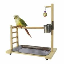 Birds Wooden Play Stand Parrot Birdcage Playing Gym Birdhouse Decors Accessories