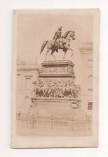 Vintage CDV Equestrian statue of Frederick the Great Berlin Germany