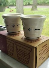 1998 Longaberger 2 Pack Votive Cups #35904 Nib Heritage Blue
