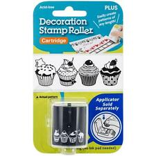 Plus Corp. Decoration Stamp Roller Black Ink Cartridge only 'CUPCAKES' 152172