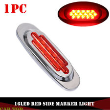 "1x Red 6.5"" 16LED Side Marker Indicator Light Truck Trailer for Freightliner 12V"