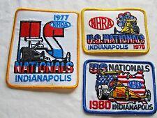 NHRA 77-78,80 Original US NationalsIndianapolis Indiana DragRacing Event Patches