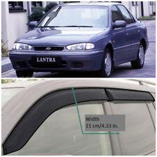 HE24595 Window Visors Guard Vent Wide Deflectors For Hyundai Lantra 1995-2000