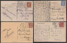 CALVADOS / 1920-30's LOT DE 7 CACHETS DAGUIN SUR CP / COTE > 55 Euro (ref 7166)