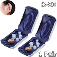 2x Invisible Best Sound Amplifier Adjustable Tone Hearing Aid  Small In The Ear
