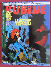 RUBINE   BD EO  N° 3 LE SECOND TEMOIN  DEDICACE WALTHERY