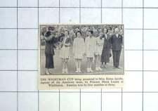 1936 Miss Helen Jacobs Receiving Wightman Cup At Wimbledon