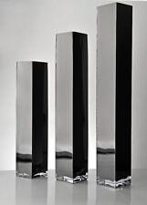 Rectangle tall handmade cubic/square, black, Column vase/Flower vase 40cm/18inch