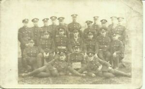 2 x WW1 postcards Middlesex Regt, group card dated 1918 & portrait card