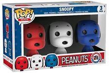 PEANUTS Exclusive POP Vinyl SNOOPY Rock the Vote Mini Pop 3 pack