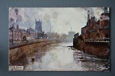 R&L Postcard: Sheffield White Rails River Don Wicker, Industrial Pollution Smoke
