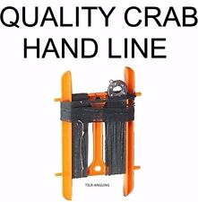 Sea Fishing Tackle Hand Line Handline for Crabbing etc -  Weight Hook Boom Crab