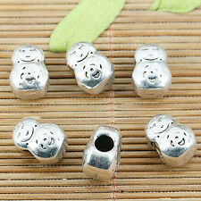 6pcs tibetan silver color 13mm long doll design spacer beads EF0246
