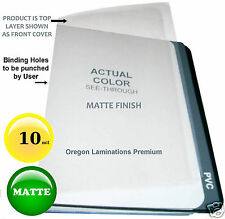 1000 MATTE 10 Mil Clear Report Covers 8-1/2 x 11 Plastic Binding Sheet unpunched