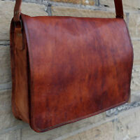Men's Genuine Leather Vintage Laptop Messenger Handmade Bag Satchel Bag
