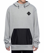 2017 NWOT MENS BURTON HEMLOCK BONDED HOODIE $110 M heather grey sweatshirt