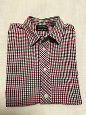 Levis 'Black' Red Checkered Long Sleeve Button Up Shirt ~ Size S ~ Levi Strauss