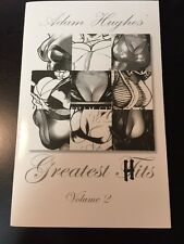 ADAM HUGHES GREATEST HITS VOL 2 SKETCHBOOK SIGNED CATWOMAN POWER GIRL NY SDCC