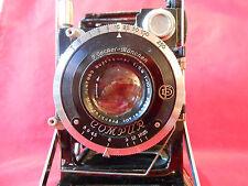 Supracomar 3,9/ 10cm Objektiv Lens Patent Etui 6,5x9 Kamerawerke Fotokamera Rar